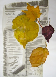leaves & newspaper 91