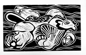 Lino Water Nymph 1977