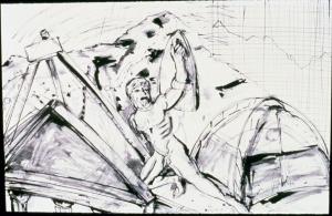 pen&ink Climbing Alone 1984