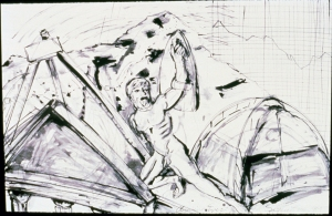 pen&ink Climbing Alone 1984