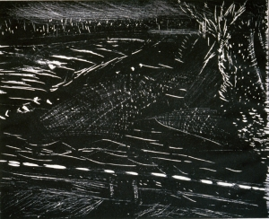Woodcut Ice Floes  78