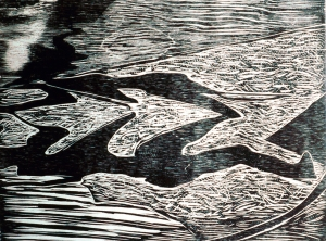 Woodcut Shivas 1988