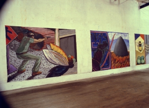 Prey and Predators acrylic on canvas 6' x 8' 1985