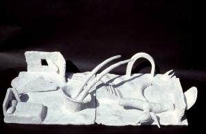 "Awakening 1983 clay  35.5"" x 19/5 x 10"""