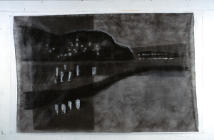 """landscape # 2  Baie St Paul 2000  54 x 87.5"""""""