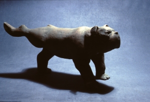 Bulldog  ceramic  1984   13 x 27""