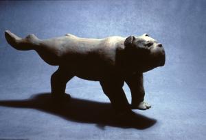 """Bulldog  ceramic  1984   13 x 27"""""""