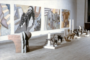 Dog installation Clark Street Studio 1984