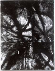 "66"" x 46"" encaustic on wood 1997"