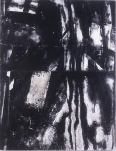 """shadow series 60"""" 46"""" encaustic on wood"""