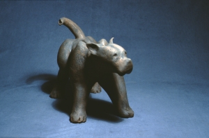 "Terrier 1983  clay and oxide   15"" x 19"""