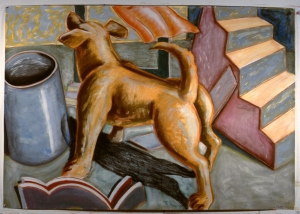 Yellow Dog  1984 5' x 7'  gouache chalk pastel and red conte on J.A. Dessein paper